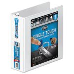 "Wilson Jones No-Gap D-Rings Vinyl View Binder, 3"" Capacity, White (WLJ86630)"
