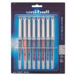 Uni-ball Vision Roller Ball Stick Liquid Pen, Assorted Ink, 8 Pens (UBC1734916)