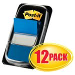 post-it-marking-flags-in-dispensers-blue-12-50-flag-dispensers-mmm680be12