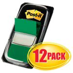 Post-it Pop-Up Marking Flags, Green, 600 flags per Box (MMM680GN12)