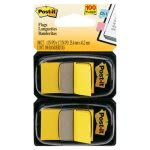 Post-it Flags Standard Tape Flag Dispenser, Yellow, 100 Flags (MMM680YW2)