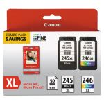 Canon 8278B005 Inks & Paper Pack, PG245, CL-246 XL, 50 Sheets, 4x6 (CNM8278B005)
