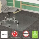 Deflect-o SuperMat for Medium Pile Carpet, 45w x 53h, Clear (DEFCM14243)