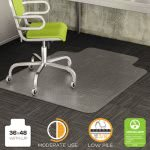 "Deflect-o DuraMat Chair Mat for Low Pile Carpet, 36"" x 48"", Clear (DEFCM13113)"