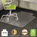 Deflect-o DuraMat Chair Mat for Low Pile Carpet, 45w x 53h, Clear (DEFCM13233)