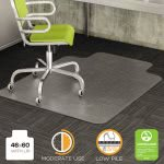 Deflect-o DuraMat Chair Mat for Low Pile Carpet, 46w x 60h, Clear (DEFCM13433F)