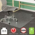 "Deflect-O SuperMat Studded Beveled Mat, 36""x48"", Clear (DEFCM14113)"