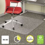 Deflect-o EconoMat Chair Mat for Low Pile Carpet, 46w x 60h, Clear (DEFCM11442F)