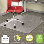 Deflect-o EconoMat Chair Mat for Low Pile Carpet, 45w x 53h, Clear (DEFCM11232)