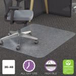 Deflect-o Polycarbonate Chair Mat, 36w x 48l, Clear (DEFCM11142PC)