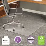 Deflect-o ExecuMat Chair Mat, High Pile Carpet, 45w x 53l, Clear (DEFCM17233)