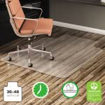 Deflect-o No Bevel Chair Mat for Low Pile Carpet, 36w x 48h, Clear (DEFCM21112)