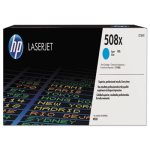 HP 508X, (CF361X) High Yield Cyan Original LaserJet Toner Cartridge (HEWCF361X)
