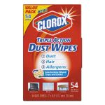 clorox-professional-triple-action-dust-wipes-white-7-x-8-12-54box-clo31312ea
