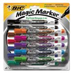 Magic Marker Pen Style Dry Erase Marker, Assorted, 12 Markers (BICGELIPP121AST)