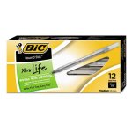 Bic Round Stic Ballpoint Stick Pen, Black Ink, Medium, Dozen (BICGSM11BK)
