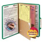 pressboard-folders-with-dividers-legal-6-section-green-10-per-box-smd19083