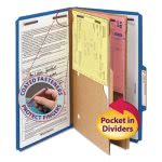 Smead Pressboard Folders, Two Pocket Dividers, Blue, 10 per Box (SMD19077)