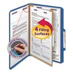 Smead Classification Folders, Legal, 4 Section,Blue, 10 per Box (SMD18732)