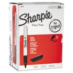 sharpie-1884739-fine-point-permanent-marker-black-36-markers-san1884739