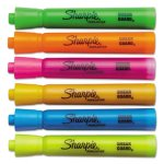 Sharpie SmearGuard Tank Style Highlighters, Assorted, 6 Highlighters (SAN25076)