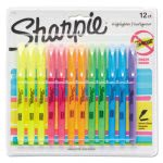 Sharpie Pocket Style Highlighter, Chisel Tip, Assorted, 12 per Set (SAN27145)