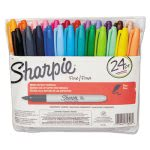 Sharpie Permanent Markers, Fine Point, Assorted, 24/Set (SAN75846)