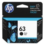 HP 63, (F6U62AN) Black Original Ink Cartridge, 1 Each (HEWF6U62AN)