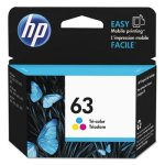 HP 63, (F6U61AN) Tri-Color Original Ink Cartridge (HEWF6U61AN)