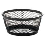 Rolodex Nestable Paper Clip Dish, Wire Mesh, Black (ROL62562)