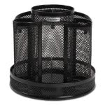 rolodex-wire-mesh-spinning-desk-sorter-8-compartments-black-rol1773083