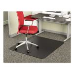 Deflecto Chair Mat for Medium Pile Carpet, 36 x 48, Black (DEFCM14142BLK)
