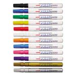 Sanford uni-Paint Markers, Fine Point, Assorted, 12/Set (UBC63721)