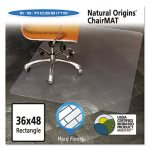"ES Robbins Natural Origins Chair Mat for Hard Floors, 36""x48"", Clear (ESR143007)"