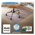"ES Robbins Natural Origins Chair Mat for Carpet, 60"" x 46"", Clear (ESR141052)"