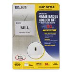 C-line Badge Holder Kits, Top Load, 2 1/4 x 3 1/2, White, 50/Box (CLI95523)