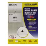 c-line-badge-holder-kits-top-load-3-x-4-white-clip-pin-50-box-cli95743