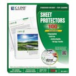 C-Line Biodegradable Sheet Protectors, Clear, 11 x 8 1/2, 100 Sheets (CLI62617)