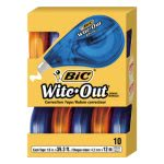 "Wite-Out Correction Tape, Non-Refillable, 1/6"" x 472"", 10 per Pack (BICWOTAP10)"