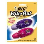 Bic Wite-Out Mini Twist Correction Tape, 2 Dispensers (BICWOMTP21)