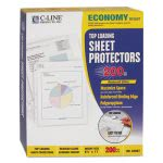 c-line-economy-weight-poly-sheet-protector-reduced-glare-11-x-8-12-200bx-cli62067