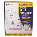 c-line-heavyweight-polypropylene-sheet-protector-non-glare-11-x-8-12-50bx-cli62018