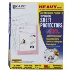 c-line-heavyweight-sheet-protector-antimicrobial-100-sheets-cli62033