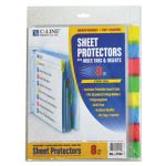 c-line-poly-sheet-protectors-with-tabs-11-x-8-12-8-protectors-cli05580