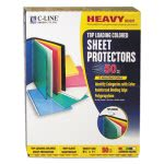 C-Line Polypropylene Sheet Protector, Assorted Colors, 50 Sheets (CLI62010)
