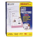 c-line-heavyweight-polypropylene-sheet-protector-clear-11-x-8-12-cli62023