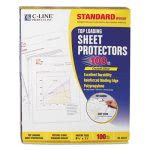 c-line-standard-weight-polypropylene-sheet-protector-clear-11-x-8-12-100bx-cli62027