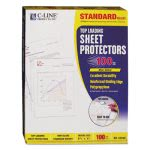 c-line-standard-weight-polypropylene-sheet-protector-non-glare-11-x-8-12-100bx-cli62048