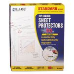 c-line-standard-weight-polypropylene-sheet-protector-non-glare-11-x-8-12-50bx-cli62038