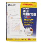 c-line-standard-weight-polypropylene-sheet-protector-clear-11-x-8-12-50bx-cli62037